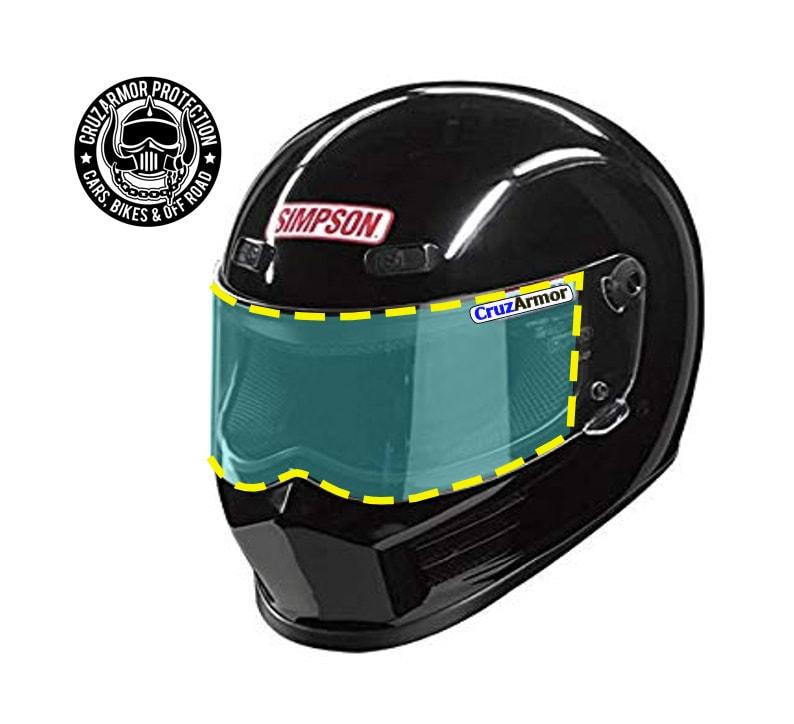 Simpson Racing Helmets >> Simpson Helmet Shield Protection Kit Fits Simpson Racing Outlaw Bandit Lens