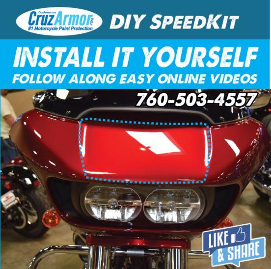 DIY, Harley Davidson, Road Glide Fairing Nose Piece protection